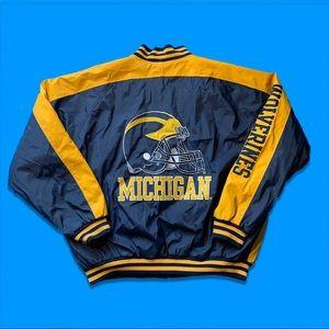 Vintage Michigan Wolverines Leather Jacket